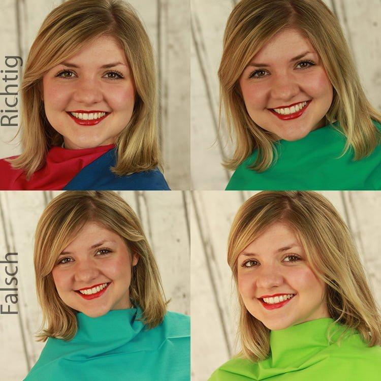 richtige und falsche Farben