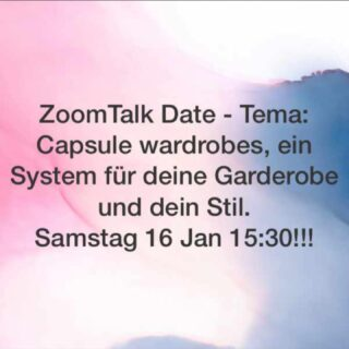 I will host a ZoomTalk on the subject of Capsule wardrobes on Sat 16.1 at 15:30 in German. If you wish one kn English please let me know 💙#stylisthamburg #slowfashion #capsulewardrobe #bethebestyou #outfitrepeater #stressfreedressing
